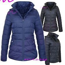 New Ladies COAT Quilted Padded Puffer Bubble LIGHT Womens Jacket Coat SIZES 8-16