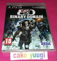 BINARY DOMAIN SONY PS3 NEUF SOUS BLISTER VERSION 100% FRANCAISE
