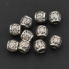 10pcs Tibetan Silver Engraved Dreadlocks Hair Beads Charm Jewelry DIY Craft