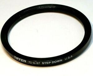 Tiffen 72mm to 67mm Step-Down ring Metal double threaded screw in Made in USA