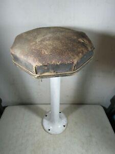 Vintage/Antique Porcelain Pedestal Stool Octagonal Seat Ice Cream Parlor Counter