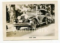 Vintage B/W photo car automobile 1927 Cadillac    President Roosevelt ??