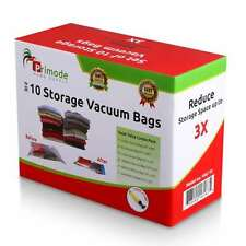 10 Vacuum Sealer Bags Clothing Space Saving Storage for Clothes w Free Hand Pump