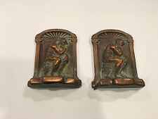 Bookends Solid Copper - The Thinker