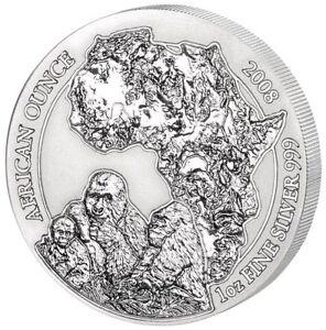 1 oz Silber Ruanda Berggorilla Gorilla 2008 PP Proof RAR!!! Original