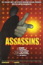 "Stephen Sondheim ""ASSASSINS"" Neil Patrick Harris / James Barbour 2004 Flyer"
