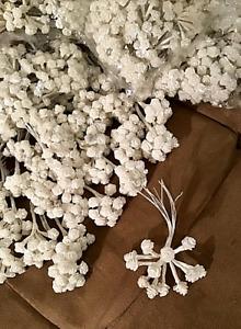 """HUGE lot of """"1,800"""" White Ribbon Roses Flowers"""