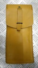 Genuine Vintage Military Issue Leather Ammo / Utility Pouch Light Brown / Tan