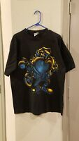 Vintage 1995 Looney Tunes USA TAZ Motorcycle Biker Club T Shirt Size XL Black