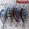 4 Realscale mini slow sink savage cranks pike perch trout chub candy gear lure