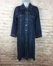 Vintage 90's Guess Jeans Denim Shirt Dress Long Sleeve Blue Sz Small / S Women's