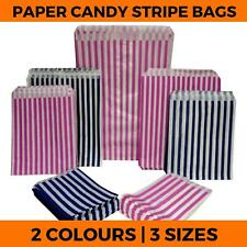 More details for candy stripe paper bags - favour sweets gift shop party  - small medium large