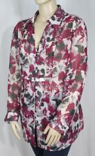 Plus Floral Button Down Shirt Long Sleeve Tops & Blouses for Women