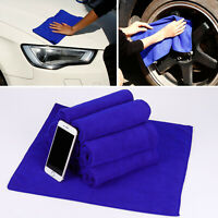 10x Microfibre Cloths Washable Cleaning Polishing Towel Glass Floor 300gsm Blue