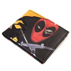 Marvel Comics Here Comes Deadpool Pirate Black Wallet NEW Merc
