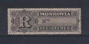 LIBERIA 1893 Monrovia Registration Stamp Scott F4 LMM