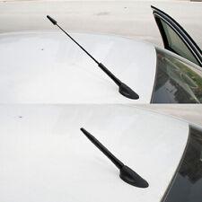 Carbon Fiber Pattern Extendable Screw-on Car Decorative Antenna Aerial Black