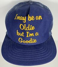 Vintage Oldie But A Goodie Cap Trucker Navy Party Old Boat Age Life
