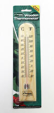 OUTDOOR TRADITITONAL WOODEN HANGING THERMOMETER FOR GARDENS / OUT DOORS - GSTH02