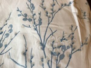 LAURA ASHLEY CURTAINS.  PUSSY WILLOW PATTERN. COTTON. LINED. LONG. VGC