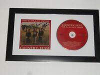 "THE CADILLAC THREE SIGNED FRAMED ""COUNTRY FUZZ"" CD ALL 3 PROOF JSA COA"