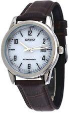 Casio Men's Analog Solar Power Stainless Steel Brown Leather Watch MTPVS01L-7B2