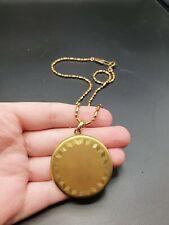 Tone Locket Necklace Vintage Antique Edwardian Gold