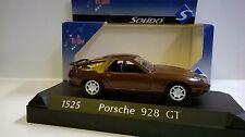 SOLIDO 1:43 DIE CAST AUTO PORSCHE 928 GT MARRÓN METALIZADA ARTE 1525