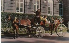Canada Quebec City - Horse Carriage Surry 1967 cover on postcard