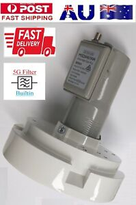 C Band LNB with 5G Filter Ultra High Gain PLL for Satellite Dish + SuperFeedHorn