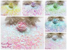 "Hexagon ""Pastel"" Colours Pot Spangle Glitter Nail Art Tip Holographic Decoration"