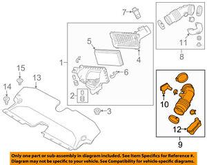 Infiniti NISSAN OEM 14-15 Q50 3.7L-V6 Air Intake-Air Inlet Duct Left 165764GB1B
