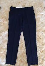JCrew $128 Bowery Urban Classic Fit Wool Pants 34/34 Deep Royal 44448