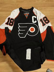 Philadelphia Flyers Mike Richards Authentic NHL HOCKEY JERSEY Reebok Black 52