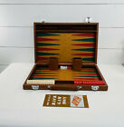"""Vintage Back Gammon Set Bakelite Checkers Chips 1 1/2"""" Red & Ivory"""