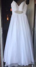 NWT Organza 333 Bank Repo Wedding Dress White $764 Size 12