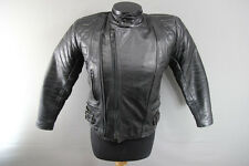 CLASSIC BUFFALO BLACK LEATHER BIKER JACKET 36 INCH
