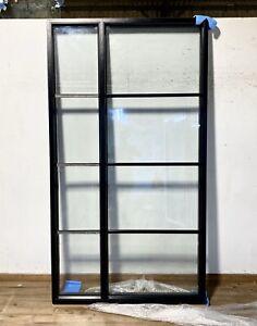 HERITAGE BLACK WINDOW-SIDELIGHT-WOODEN-ALUMINIUM-CRITTALL-CRITAL-CRITALL-STEEL