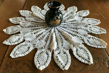Vintage Doily Pineapple Lace Hand Crochet Cotton Vanity Decorative Table