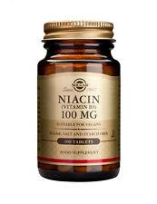 Solgar Niacin (Vitamin B3) 100mg - 100 tablets