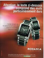 Publicité Advertising 2006 Les Montres Chrono Mystery Rodania