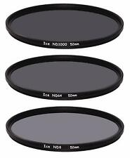 ICE 52mm 3 Filter Set ND1000  ND64  ND8 Neutral Density ND 52 Optical Glass Thin