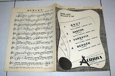 Spartiti SERIE JAZZ Brut Santos Varsavia Bergen Songbook ALBORA 1980 spartito
