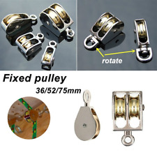 More details for 36/52/75mm metal single/double fixed pulley lift hoist rope lifting wheel