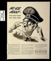 1942 Electric Company American Business Adolf Hitler Vintage Print ad 8588