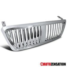 For 2004-2008 Ford F150 Truck Chrome Vertical Style Front Hood Grille 1PC