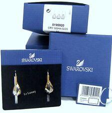 Swarovski Energic Pierced Earrings, Golden Shadow Crystal Authentic MIB 5195920