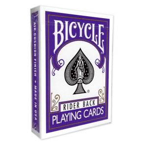 Violet /  Purple Backed Genuine Bicycle Playing Cards  / Deck  + 3 Gaff cards