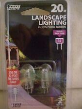 12V G4 BASE 20 W  T3 CLEAR  BULB Feit Landscape & Cabinet