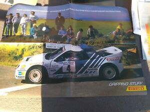 Ford RS200 RALLY Pirelli Poster Mark Lovell 1986